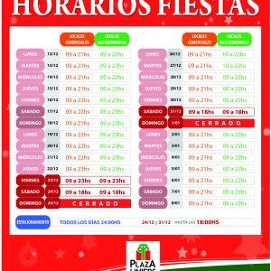 HORARIO ESPECIAL FIESTAS 2016