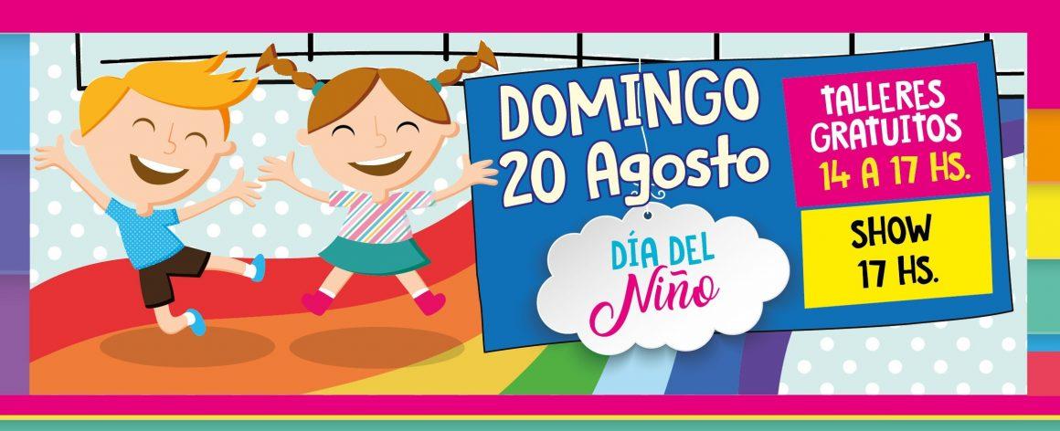 DÍA DEL NIÑO: Talleres gratuitos y Show para la familia!